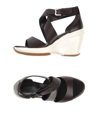 HOGAN Women's Sandals Dark brown 7.5 US
