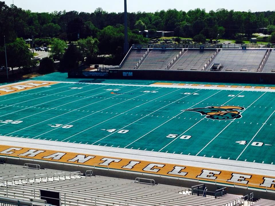 I Love Working At Coastal Carolina University This Is Our New Teal Turf Field It S Good To Coastal Carolina University Coastal Carolina Southern Beach