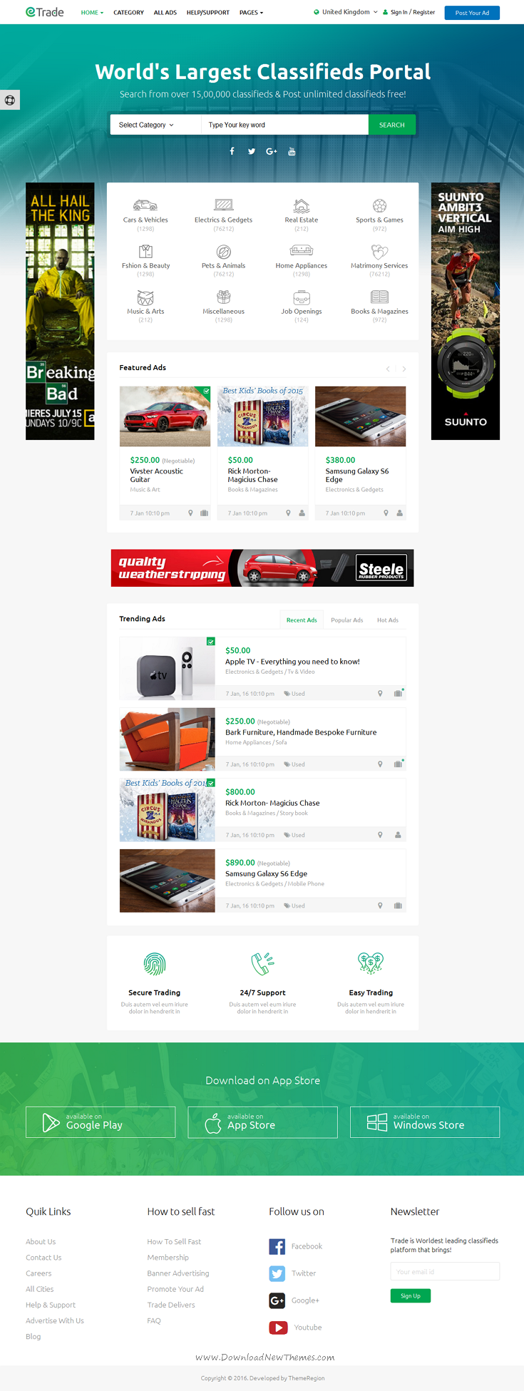 Trade - Modern Classified Ads HTML Template