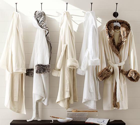 0acefc8042 Cozy Fur Robe - Ivory Gray Ombre
