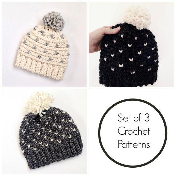 Hat crochet patterns / fair isle hat pattern / crochet toddler ...