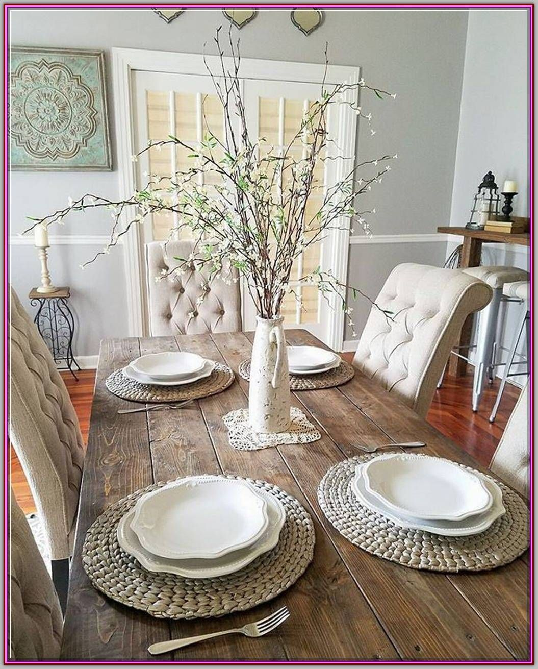 46 Popular Farmhouse Dining Room Design Ideas Trend 2019: Design A Perfect Dining Room Interior With These Easy Tips