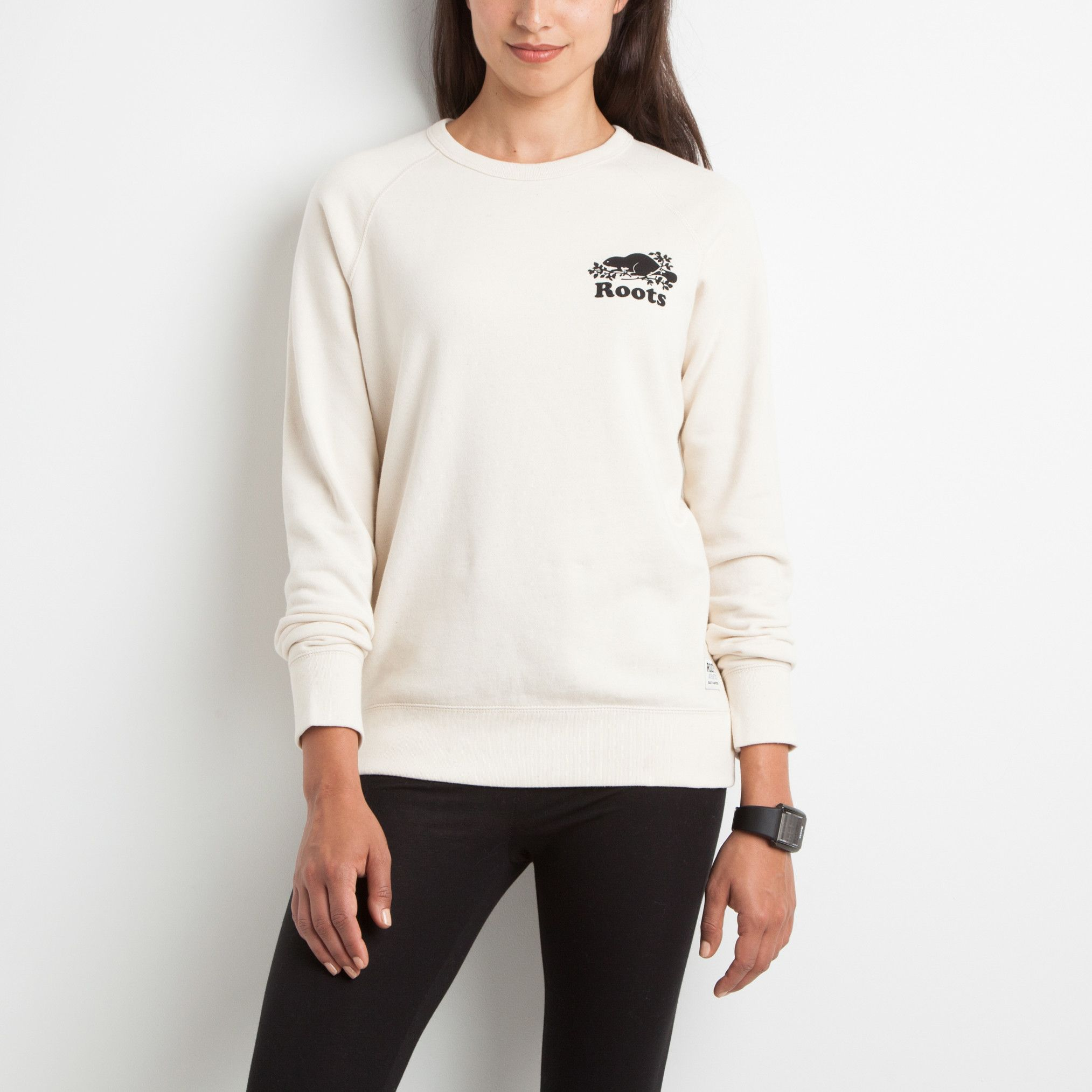 Raw Boyfriend Crew Neck |Women's Hoodies and Sweatshirts | Roots ...