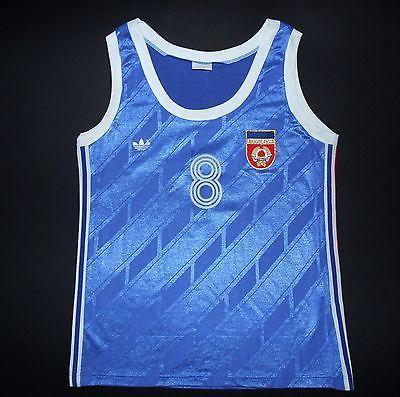 Comida tinta Desilusión  Vintage Adidas Yugoslavia Basketball Jersey Shirt Camiseta Fiba Serbia  Croatia | Mens tops, Tank man, Sports
