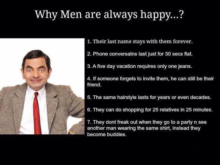 Men have it so easy