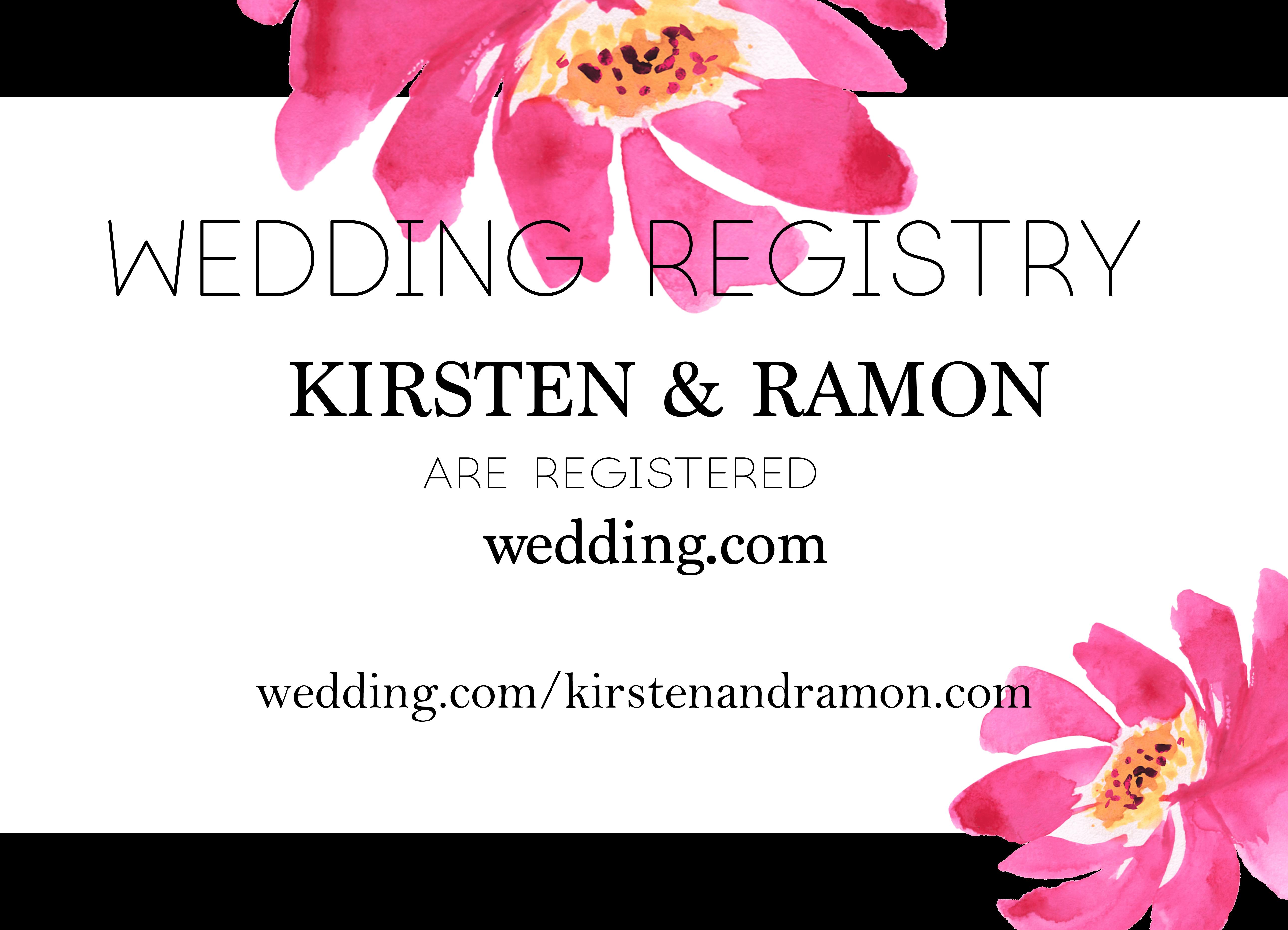 image regarding Free Printable Registry Cards referred to as Free of charge Ground breaking Printable Watercolor Marriage Registry Card