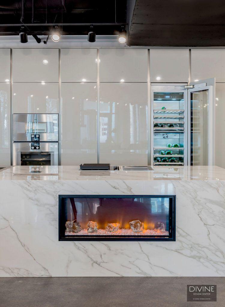 A Unique Fireplace In A Kitchen Island Unique Fireplace Kitchen Appliance Trends Luxury Appliances
