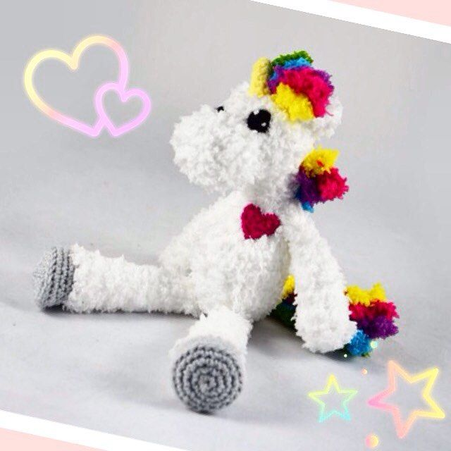 Fluffy Crochet Unicorn Unikat Crochet Niggyarts Plushmaker