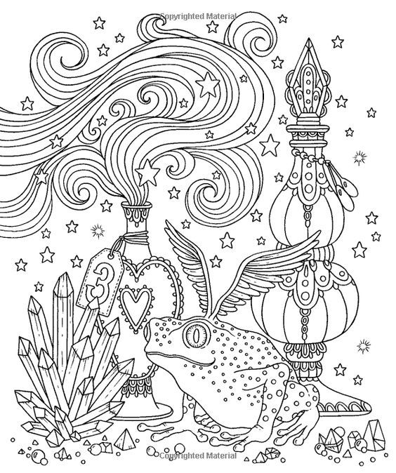 Pin By Magickal Spoonie On Coloring Frog Coloring Books Cute Coloring Pages Animal Coloring Pages