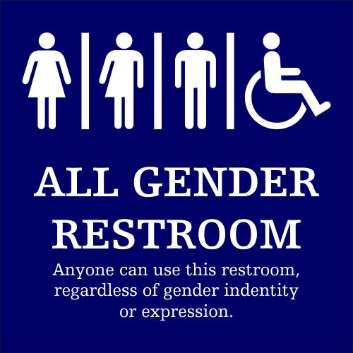 Gender Neutral Bathroom Signs All Gender Restroom Gender Neutral Bathroom Signs Restroom Sign