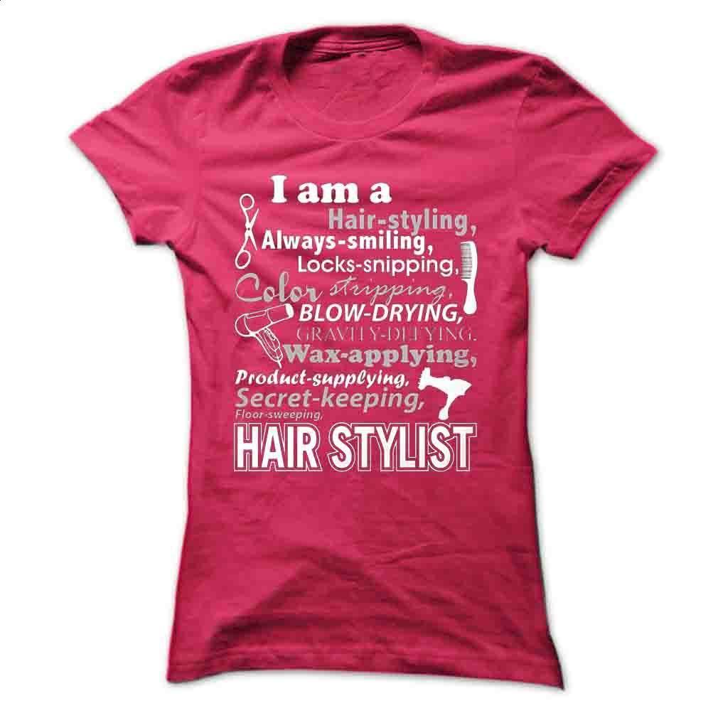 Hair-Styling T Shirt, Hoodie, Sweatshirts - t shirt maker #shirt #clothing