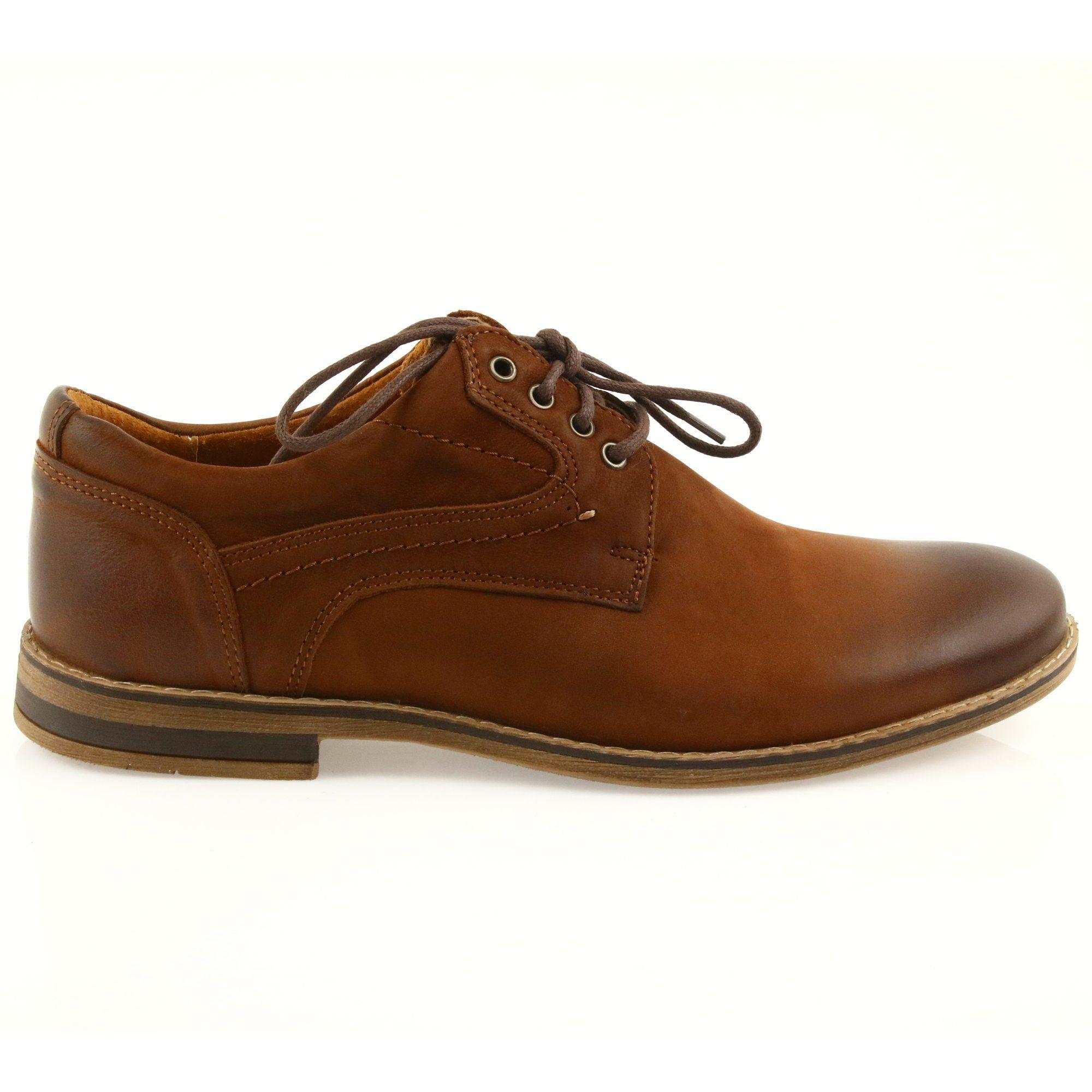 Riko Polbuty Buty Meskie Wiazane 831 Brazowe Dress Shoes Men Shoes Shoes Mens