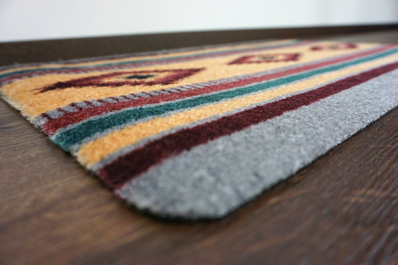 Amazon deco mat │ indianer teppich grau rot │ rutschfeste
