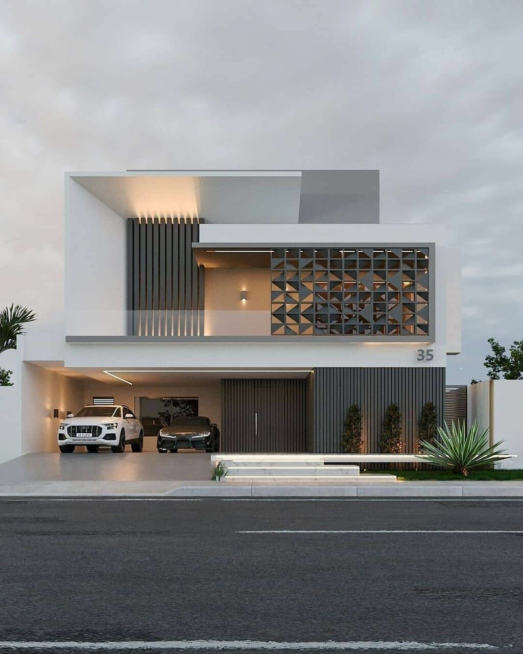 Shared By Maria Leonidou Find Images And Videos On We Heart It The App To Get Lost In What You Love Facade House Bungalow House Design Duplex House Design