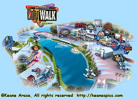 printable map of citywalk universal studios orlando - Google Search on