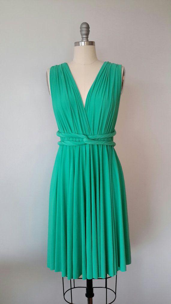 Jade Green SHORT Infinity Dress Convertible Formal Multiway Wrap ...