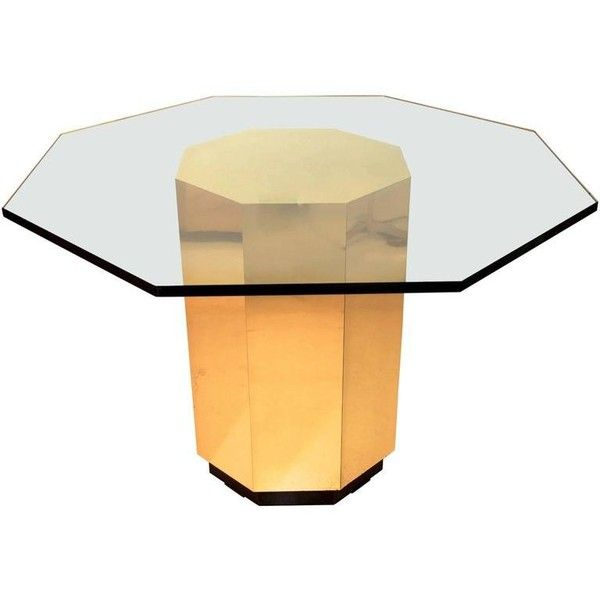 Preowned Mastercraft Brass Octagonal Pedestal Base Dining Table 3 750 Liked On Polyvor Dining Table Bases