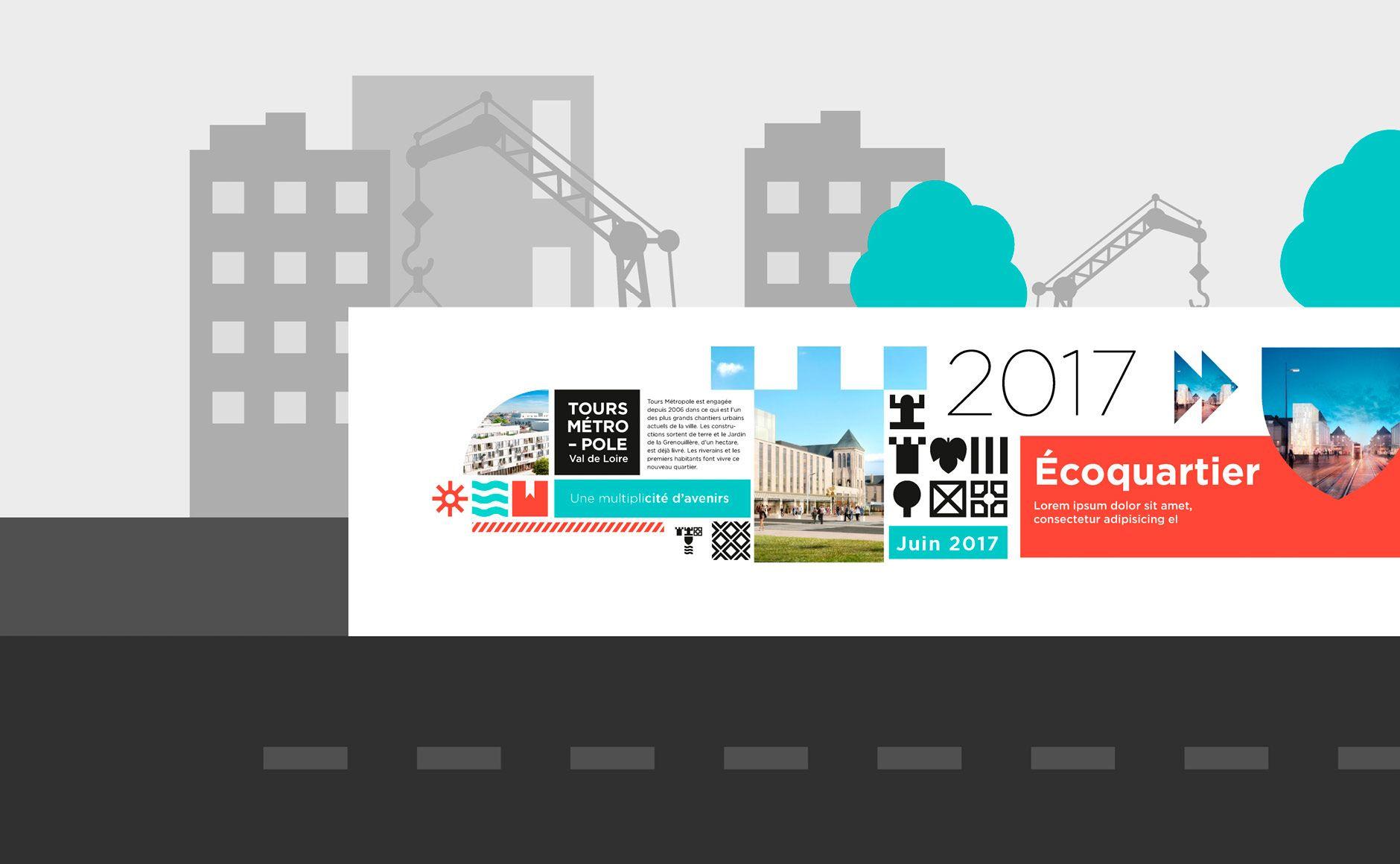 Tours Metropole Brand Design On Behance Branding Design Typography Layout Visual Identity