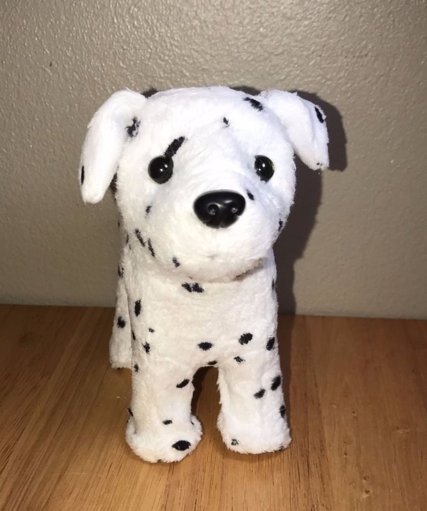 American girl doll dog black white pet dalmatian puppy retired