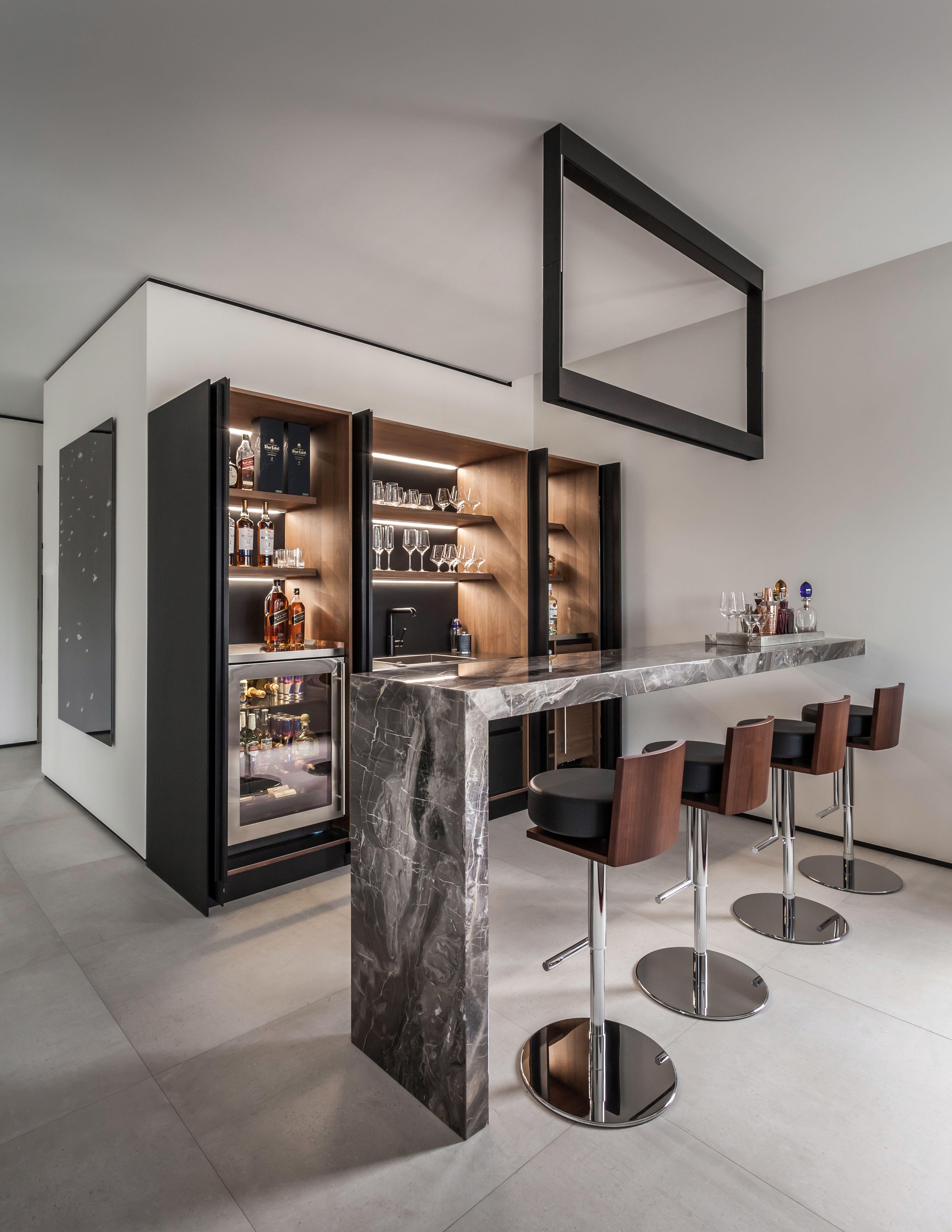 Best Living Room Bar Marble Pendant Light Kreon Cadre Black Power Coated Metal Led Fixture In 2019 400 x 300