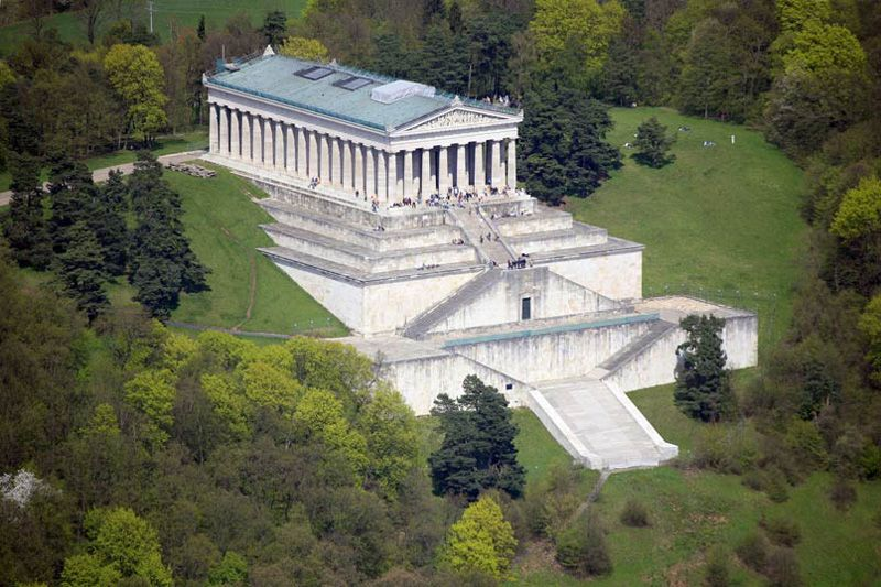 A Must see, the Walhalla Temple overlooking the Danube River, Regensburg  Germany   German architecture, Architecture, Countryside