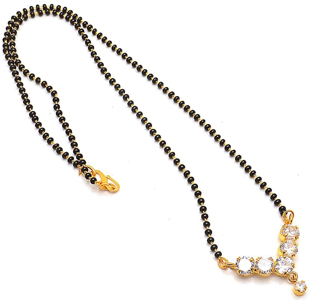 Amazon Mangalsutra Pendant One Gram Gold Plated Ad