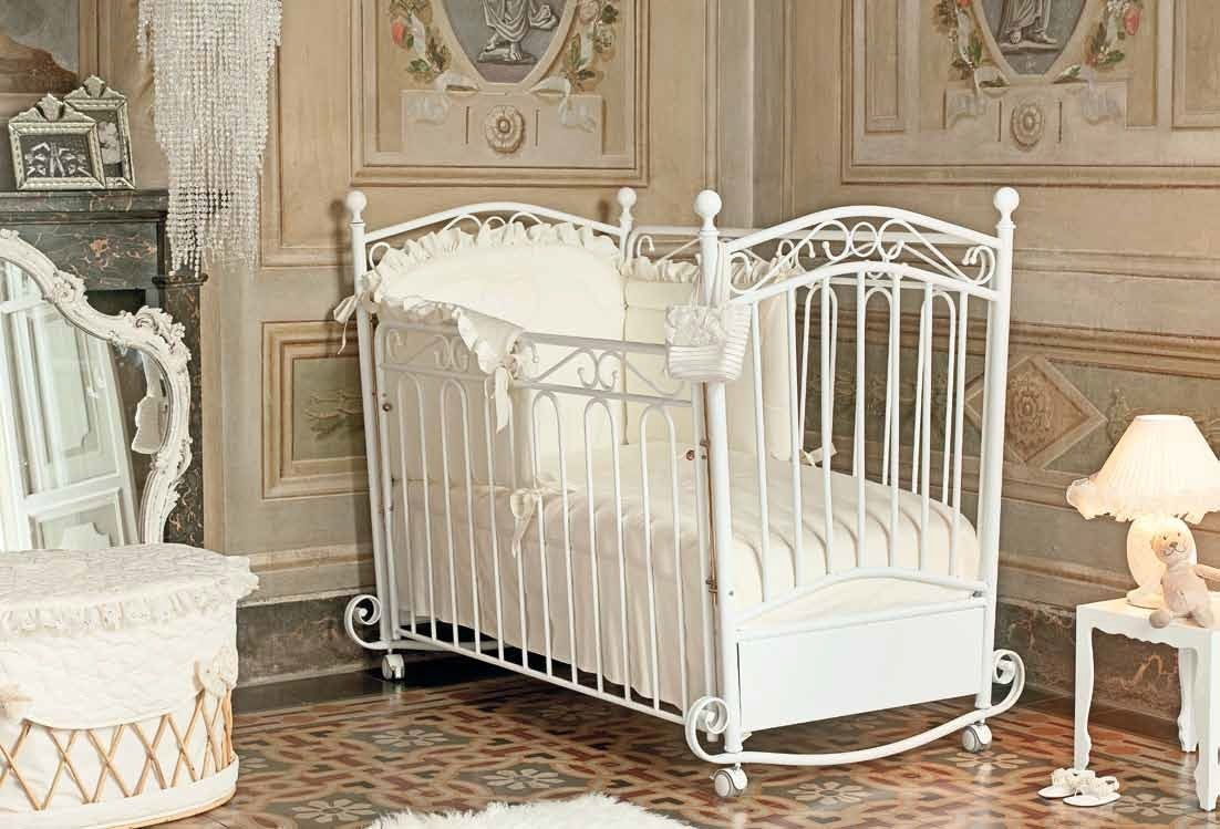 cottage antique metal toddler workfuly wrought sleeper travel white room co miniature closet wheel vintage baby crib iron small keyword wheels style cribs sleigh