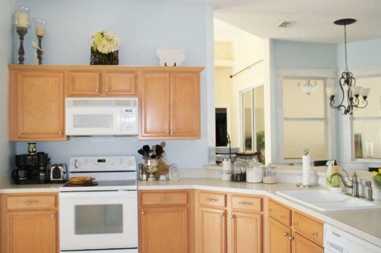Color blanco y madera de roble para las cocinas modernas | Madera ...
