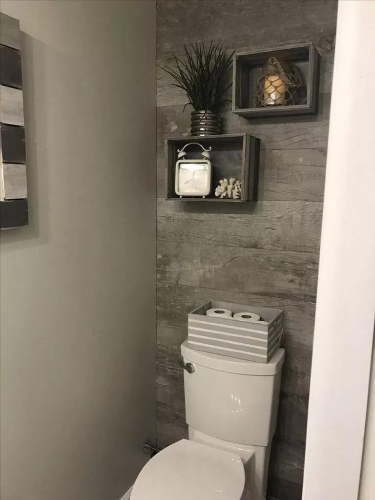 ✔74 affordable rustic bathroom storage ideas 70 #smalltoiletroom