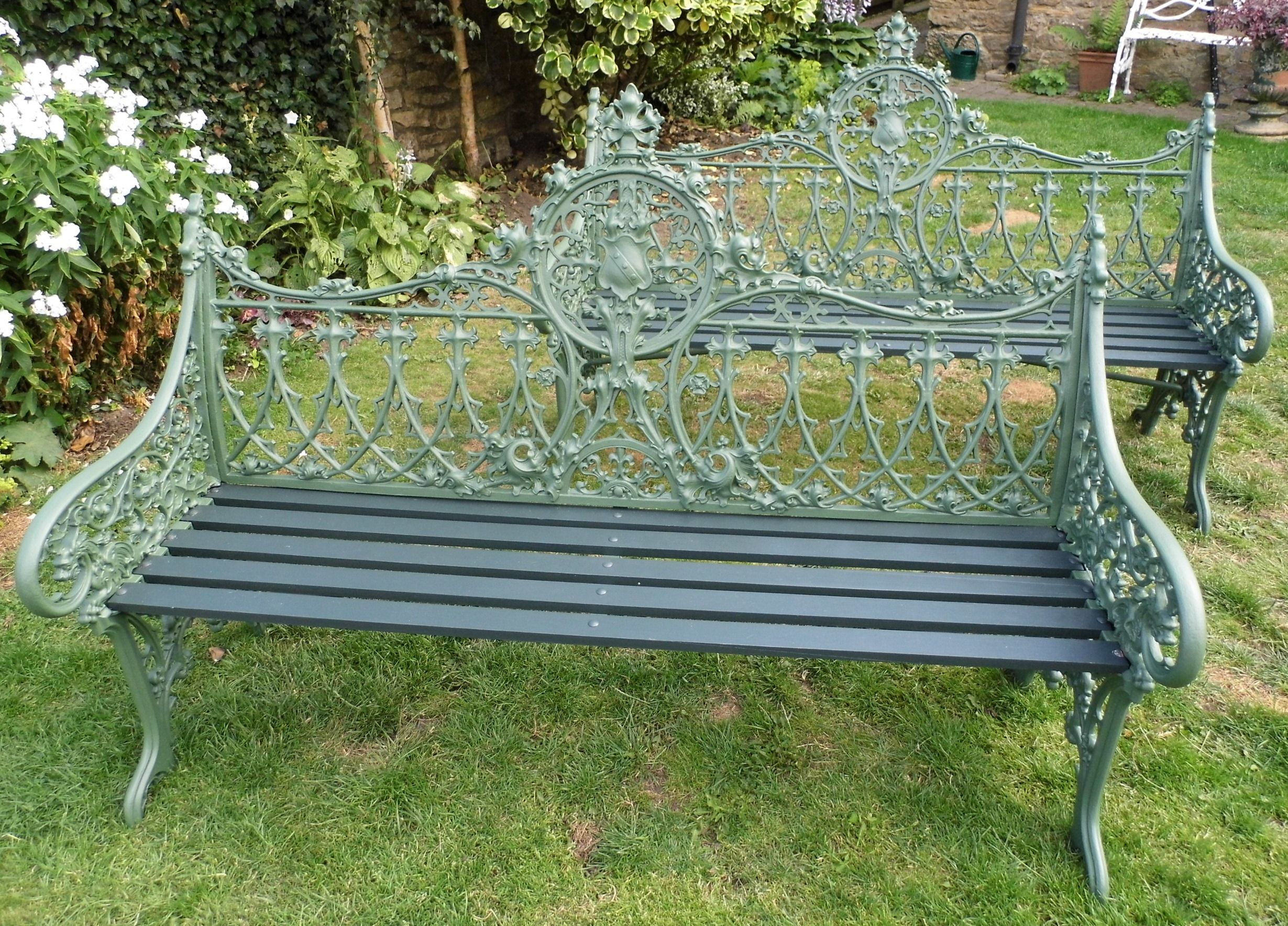 furniture metal steel porch best products itm chair frame outdoor bcp choice bench garden park yard patio