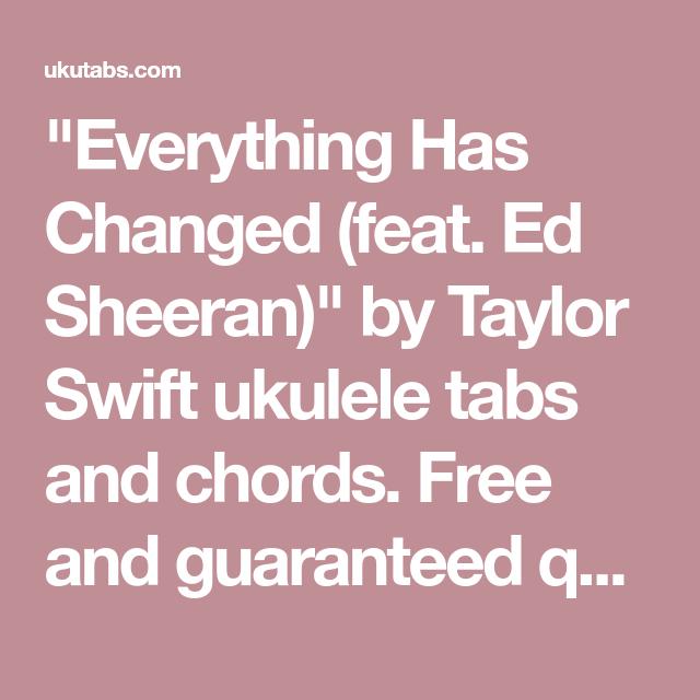 Everything Has Changed (feat. Ed Sheeran)\