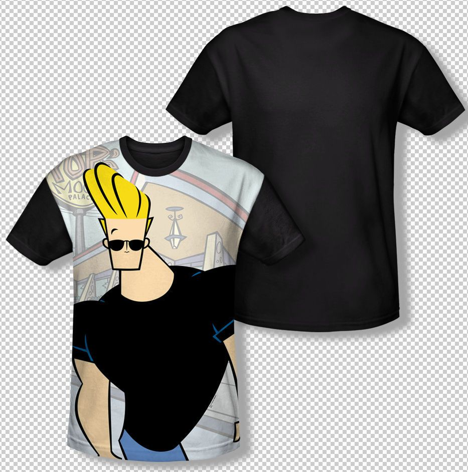 New Johnny Bravo Tv Show Hanging Out Pose All Over Front Sublimatio