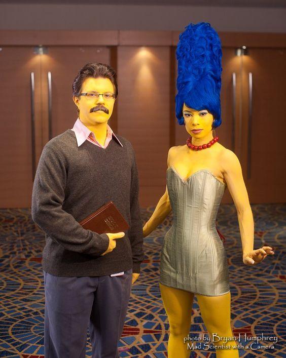 diy ned flanders marge simpson halloween costume idea - Simpson Halloween Costume