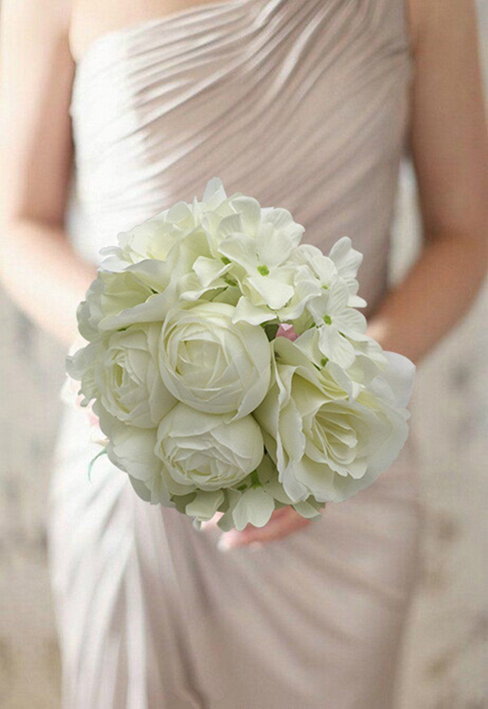 amazon: yamuda bridal wedding bouquet flower arrangement