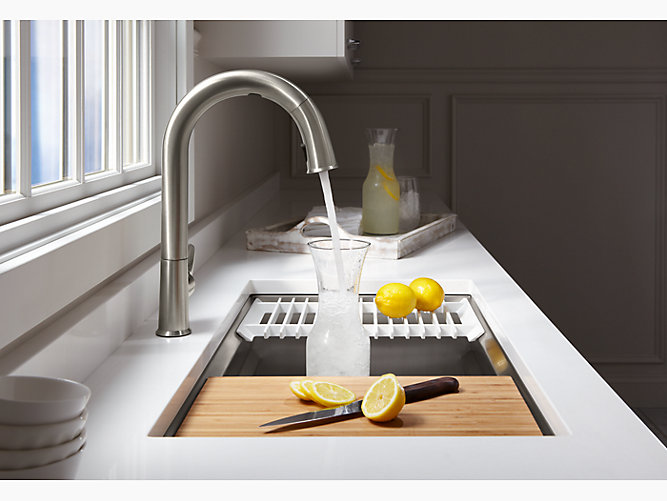 Pin On Home Renovation Kohler sink with cutting board