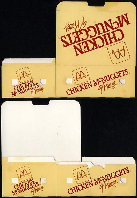 McDonald's - Chicken McNuggets 9-piece box - later 80's by JasonLiebig, via  Flickr
