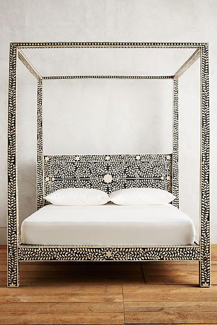 Best Bone Inlay Three Drawer Dresser Four Poster Bed Cool 400 x 300