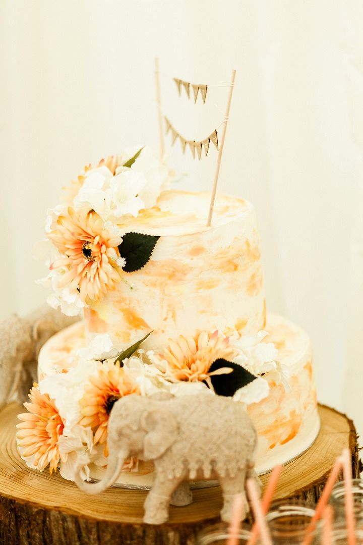 Anthony and Francesca\'s Disney Themed Orange Tie Dye Wedding by Romy ...