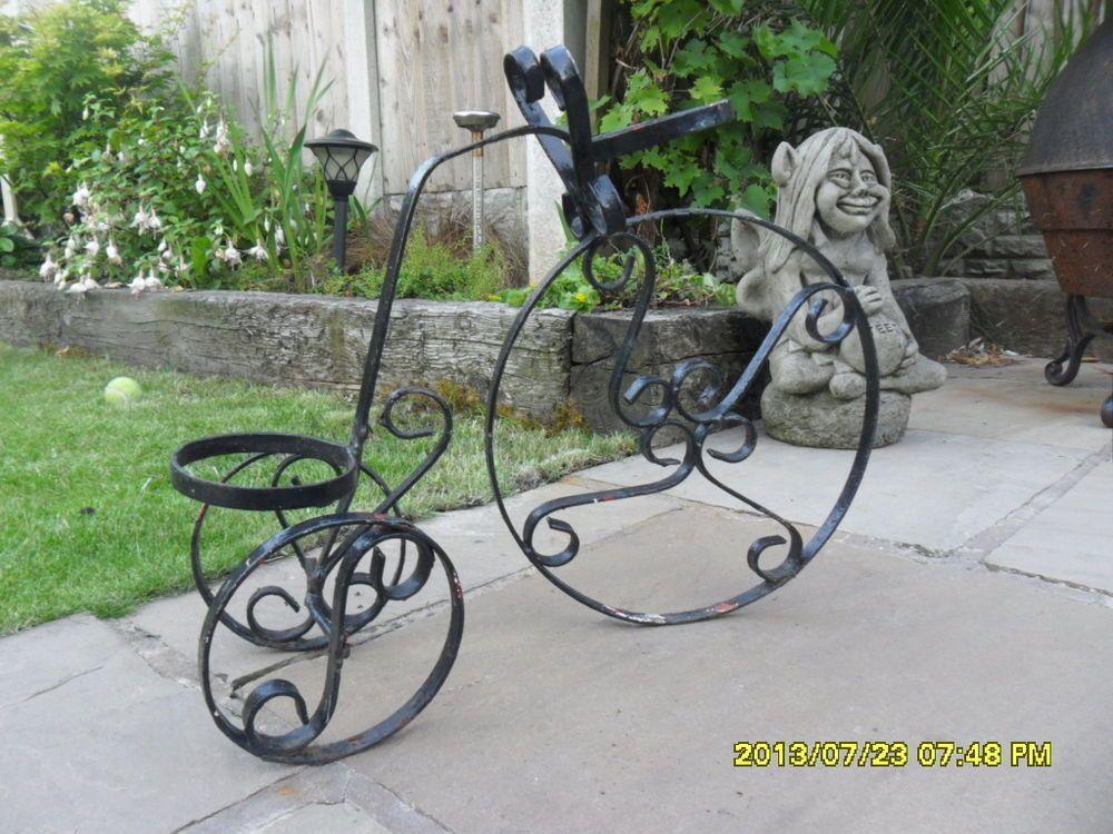 Penny Farthing Bike Wrought Iron Metal Victorian Garden Planter