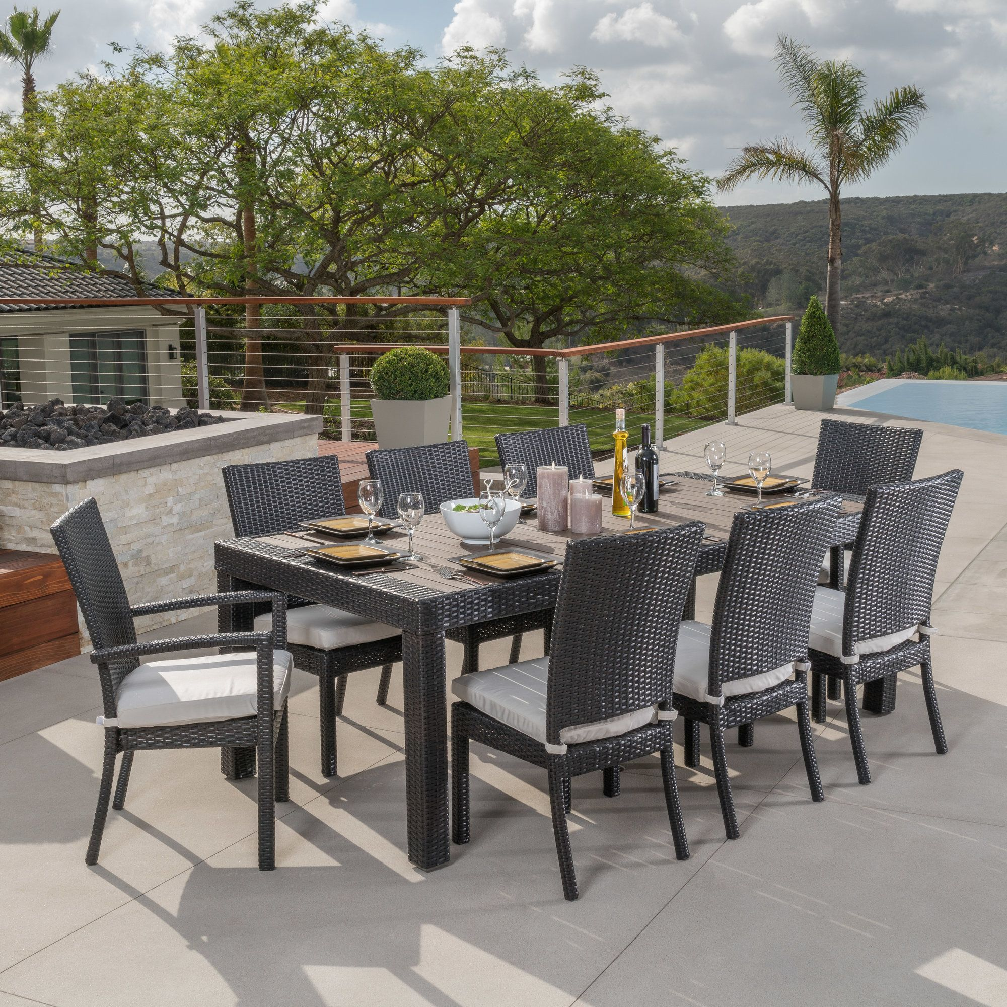 9 Piece Outdoor Dining Set Northridge 9 Piece Outdoor Dining Set With Cushion Products