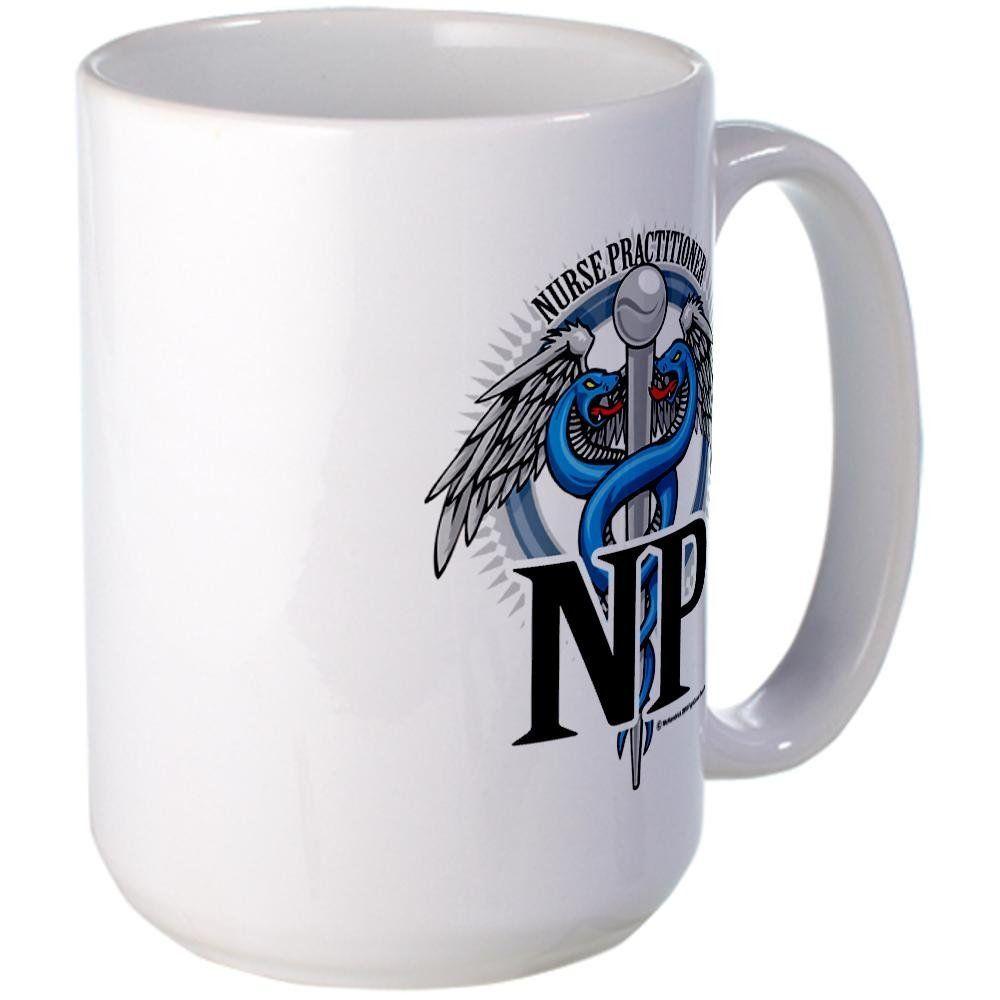 Cafepress nurse practitioner caduceus b large mug