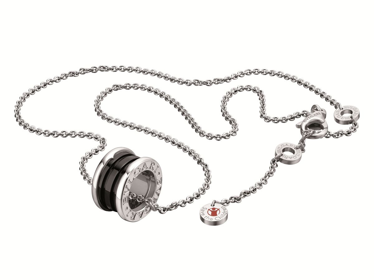 Bulgari save the children bzero1 pendant jewelry pinterest bvlgari save the children black ceramic and sterling silver pendant necklace mozeypictures Choice Image