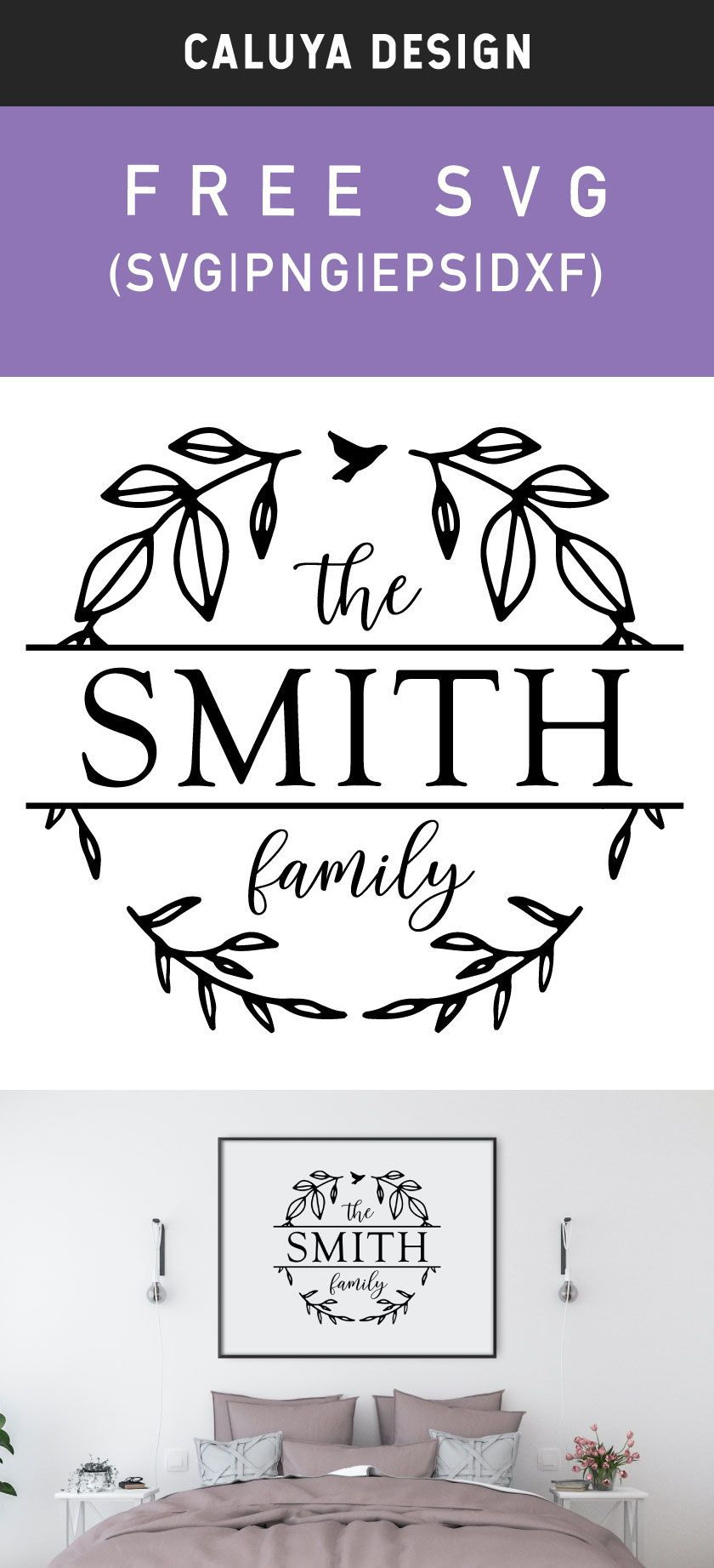 Free Wreath Family Monogram Svg Png Eps Dxf By Caluya Design In 2020 Free Cricut Images Cricut Monogram Free Monogram Fonts