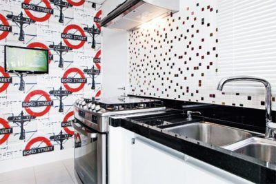 papeis de parede e pastilhas para cozinha