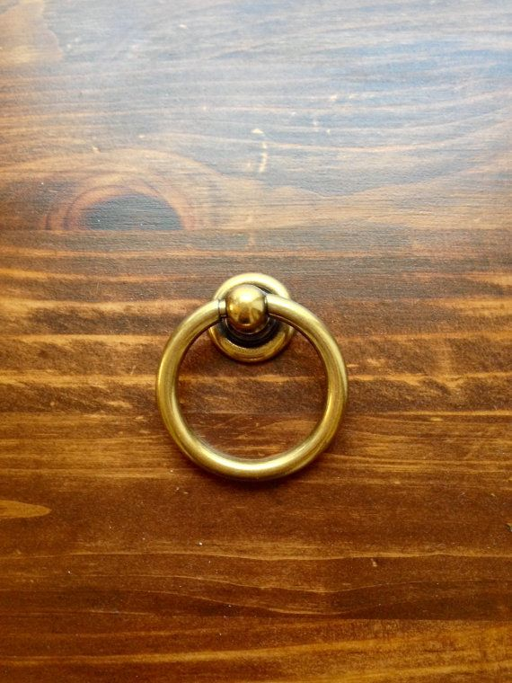 Plain Brass Ring Pull 51mm X 43mm Hardware DIY By OrganzaDesigns