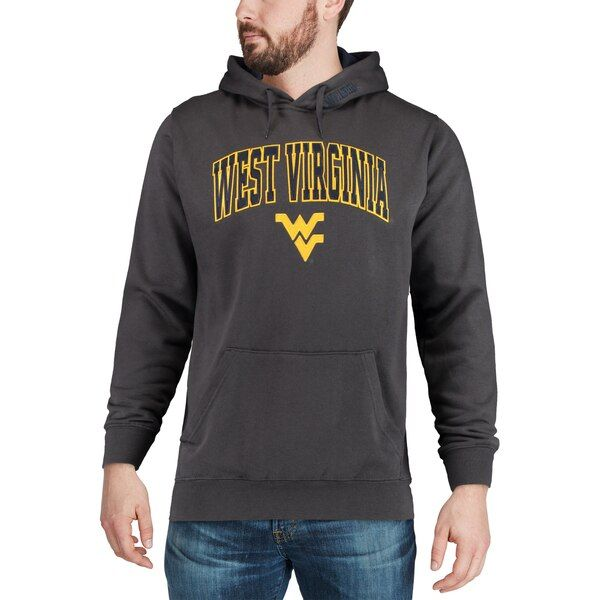 West Virginia Mountaineers Colosseum Arch & Logo Tackle Twill Pullover Hoodie - Charcoal #westvirginia