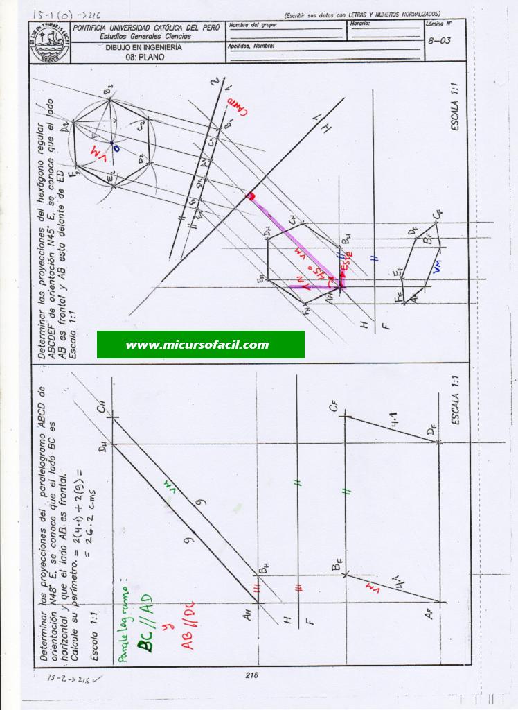 Dibplano137 Si1 Geometria Descriptiva Geometria Orientacion