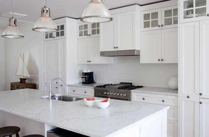White Kitchen Black Benchtop white kitchen, marble benchtop with black handles - google search
