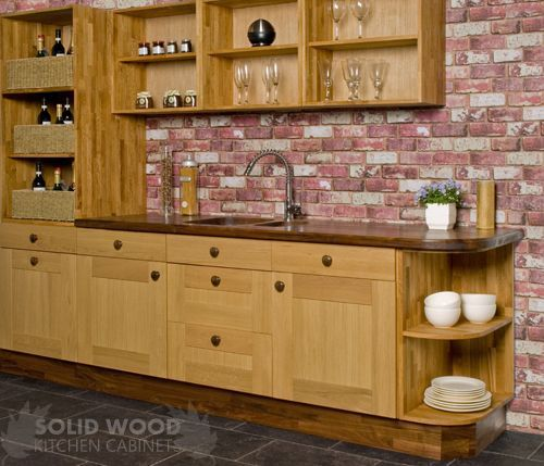 Image Result For Oak Kitchen Base Cabinet Shelves Solid Wood