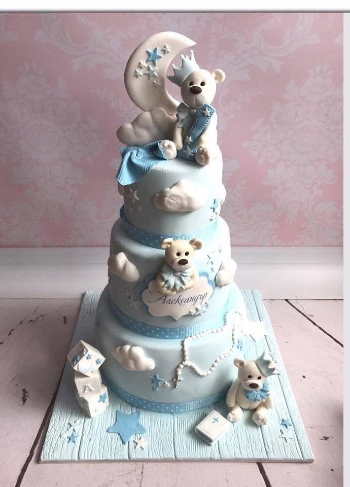 Teddy Bear Baby Shower Birthday Cake Baby Boy Birthday Shower